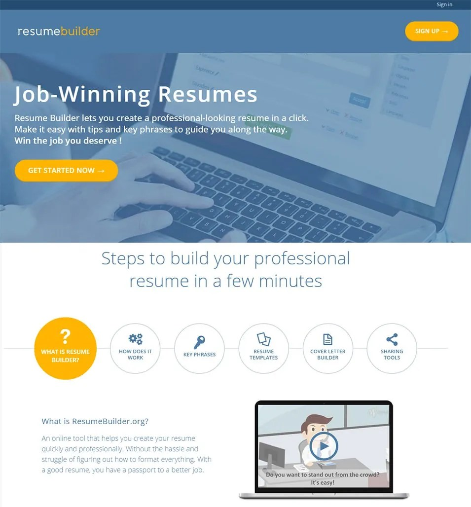How To Make The Perfect Resume For Free 21 Top Best Resume Builders 2018 Free Premium Templates