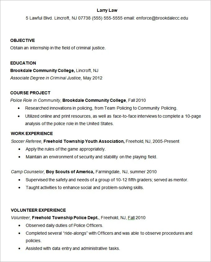 resume resume examples for criminal justice students criminal justice resume examples sample resume