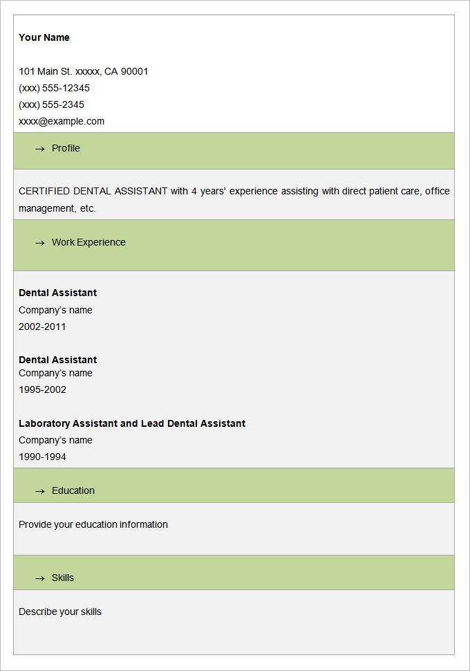blank high school resume template