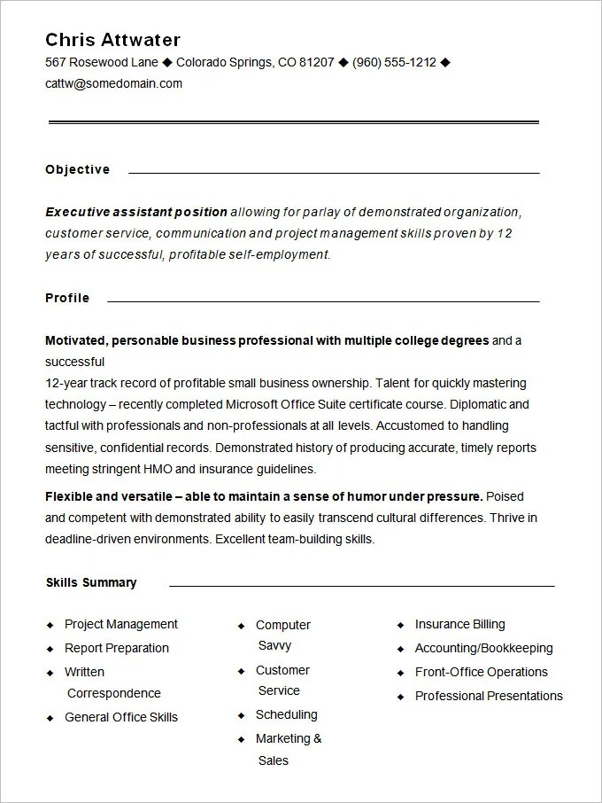 Functional Resume Template  15 Free Samples Examples