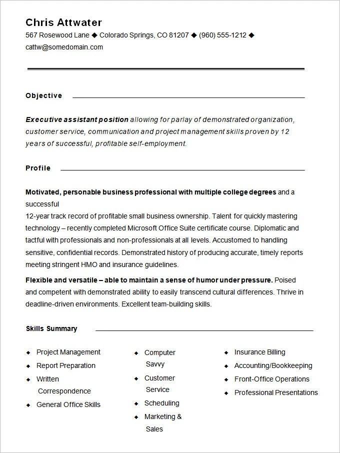 Functional Resume Undergraduate Sample Customer Service Resume