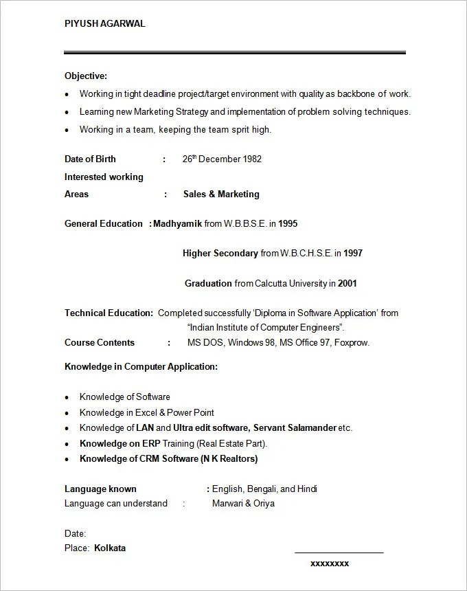 Sample Mba Resume Sample Best Resume Format Sop Proposal