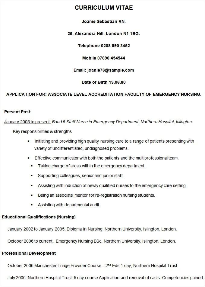 Vitae Resume Template Free Curriculum Vitae Template Vita Resume