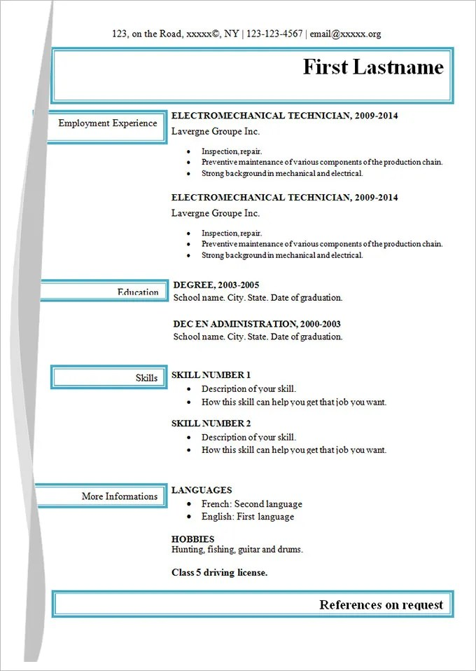 Simple-Electro-Mechanical-Resume-Template Template Cover Letter Email Counseling Resume Objective Mzotog on