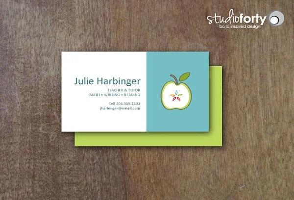 Substitute Teaching Business Card - Substitute teacher business card template