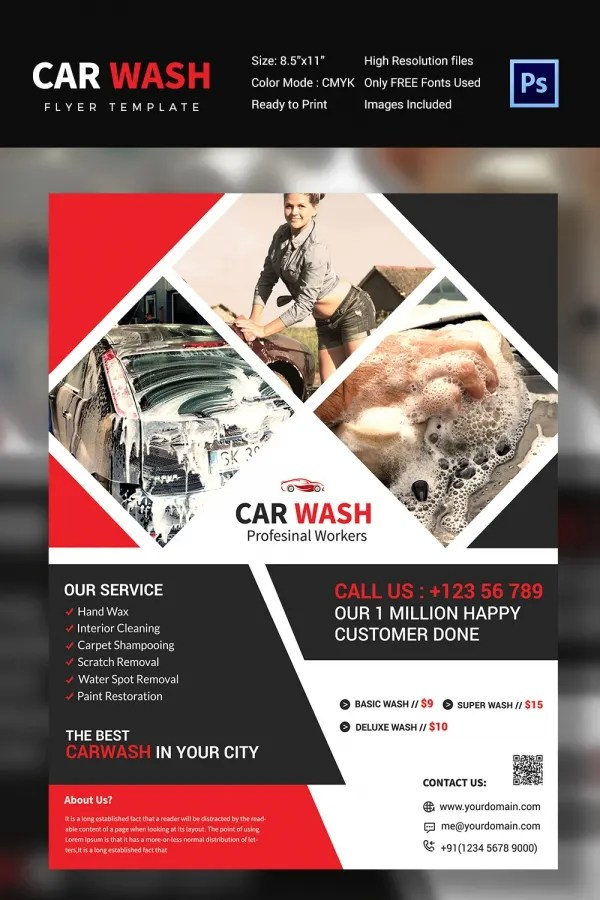 Car Wash Flyer 48 Free PSD EPS Indesign Format Download Free Premium Templates