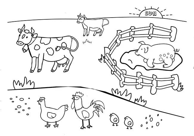 Goats And Sheep Coloring Page Sketch Coloring Page