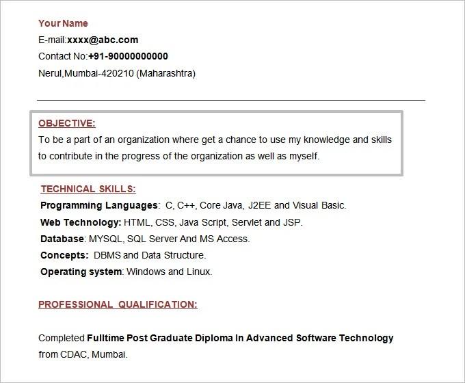 61 Resume Objectives PDF DOC Free & Premium Templates