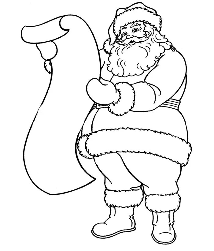 61+ Best Santa Templates Shapes, Crafts & Colouring Pages