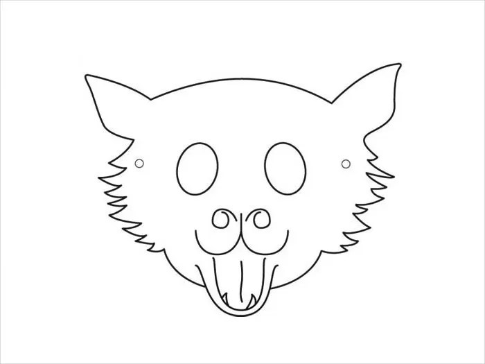 Woodland Animal Masks Template Image collections