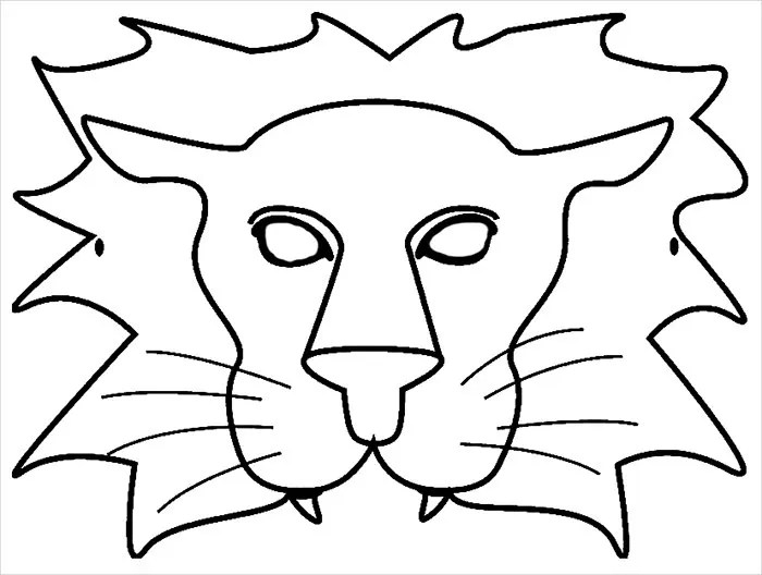 Cute Lion Mask Template