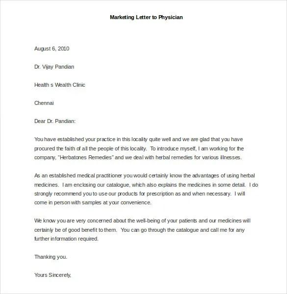 Marketing Letter Template  38 Free Word Excel PDF Documents Download  Free  Premium Templates