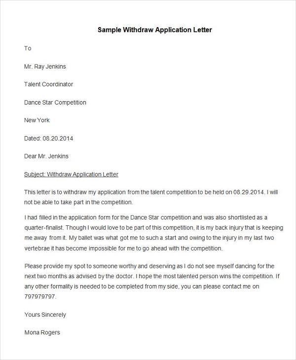 95 Best Free Application Letter Templates & Samples PDF