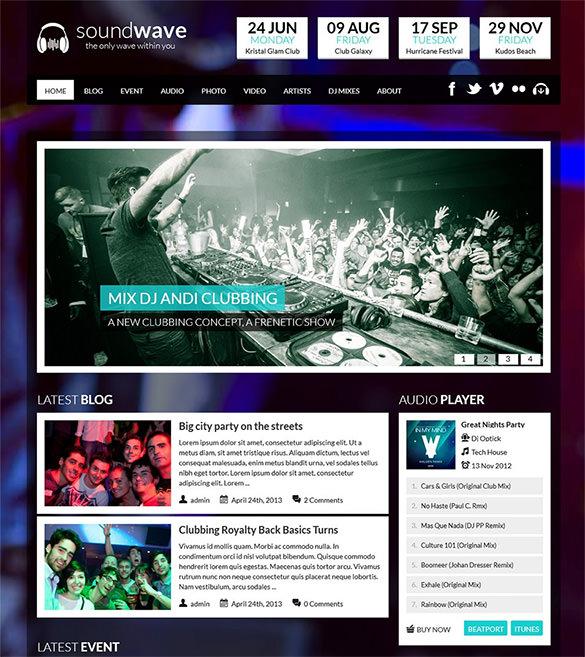 30 Radio Station WordPress Themes Amp Templates Free Amp Premium Templates