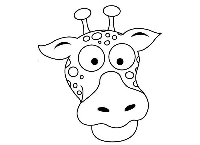 Giraffe Mask Coloring Page