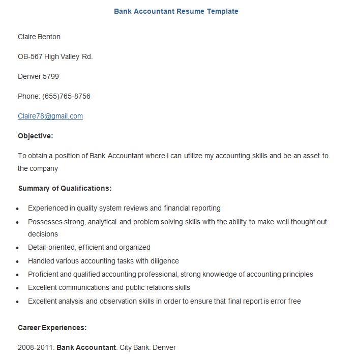 19 Sample Banking Resume Templates PDF DOC Free