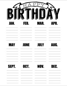 Birthday calendar template also templates psd pdf excel free  premium rh