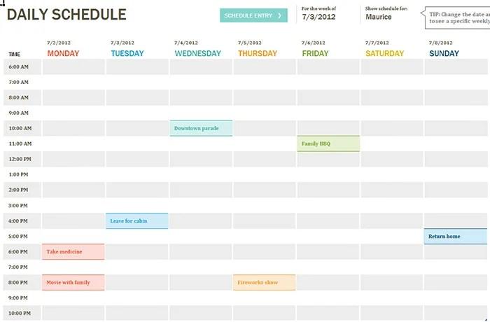40 Best Daily Calendar Templates Amp Designs For 2015 Free Amp Premium Templates