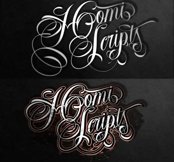 Tattoo Font Lettering Designs