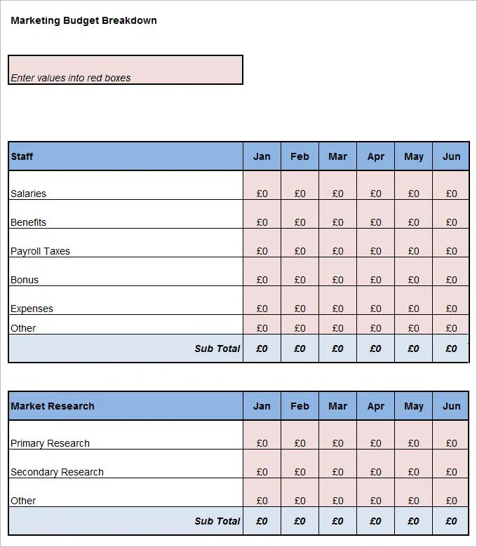 Marketing Budget Template 22 Free Word Excel PDF