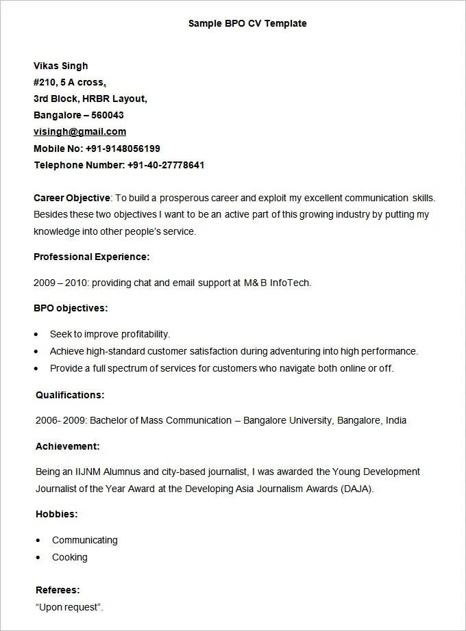 37 BPO Resume Templates PDF DOC Free & Premium Templates
