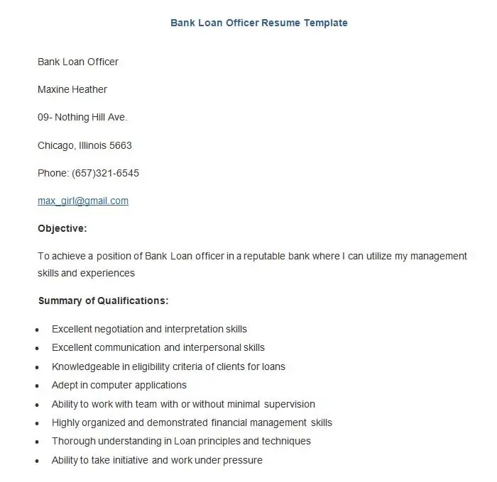 Banking Resume Template – 21 Free Samples Examples Format
