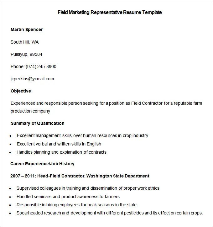 factory outside sales rep sample resume