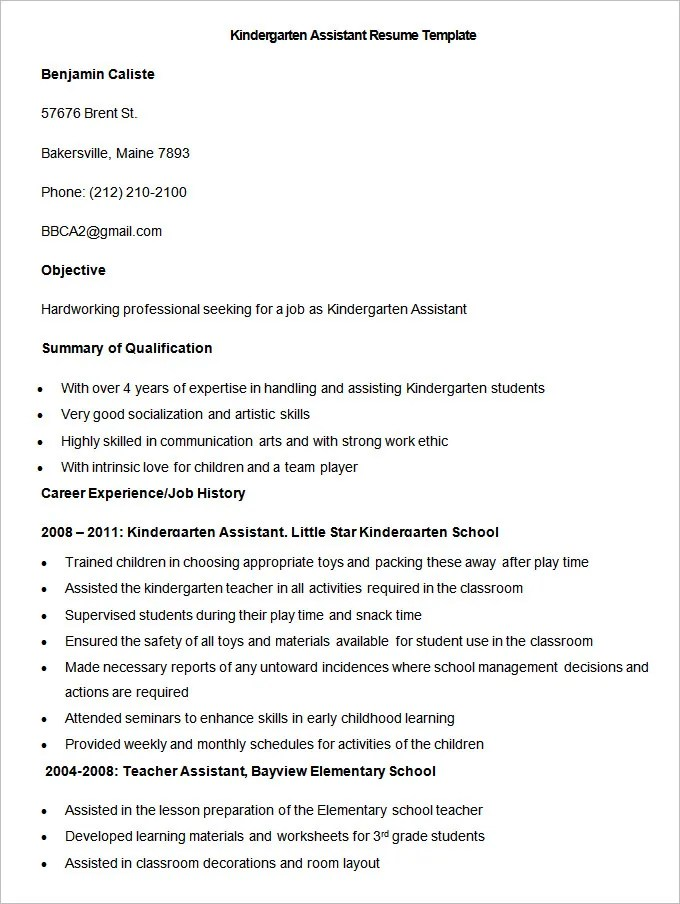 50 Teacher Resume Templates PDF DOC Free & Premium