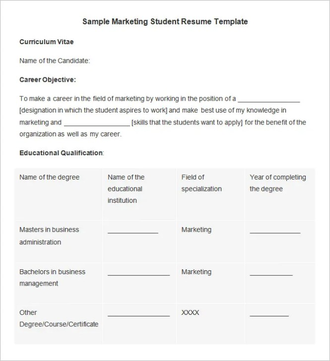 Marketing student resume resume sample marketing resume template 37 free samples examples format thecheapjerseys Choice Image