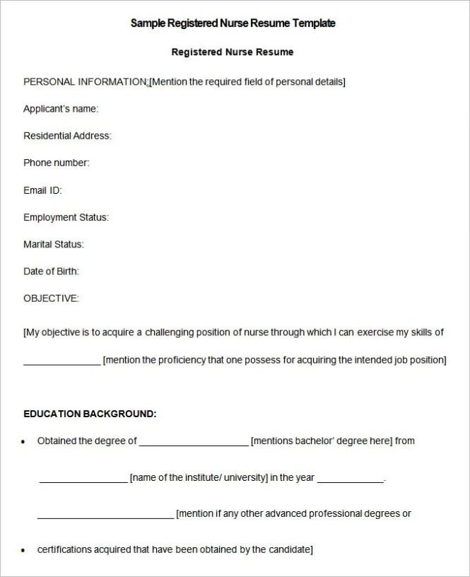 nursing resume template 9 free samples examples format