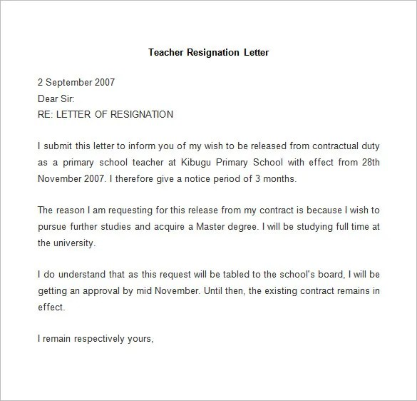 Resignation Letter Template  25 Free Word PDF Documents Download  Free  Premium Templates