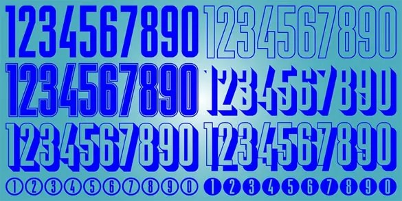 30 Number Fonts TTF OTF Free Amp Premium Templates