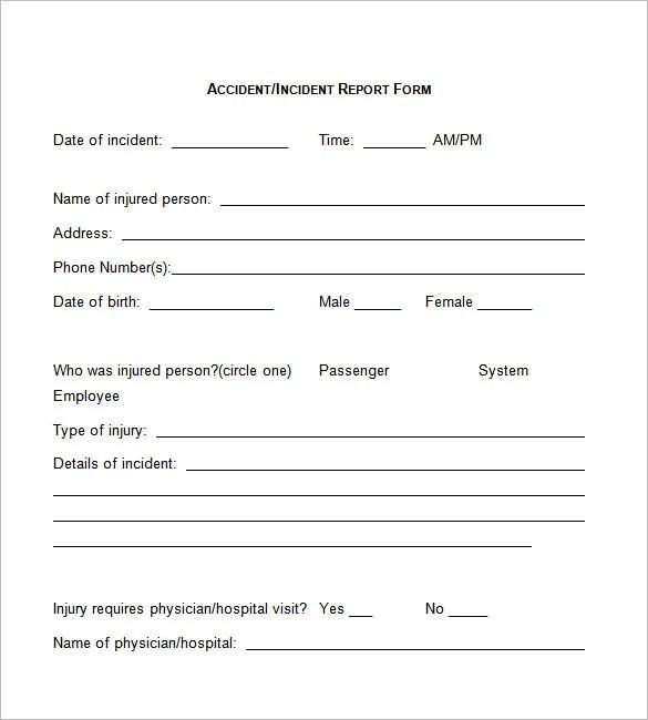 Sample Incident Report Letter For Damaged Item