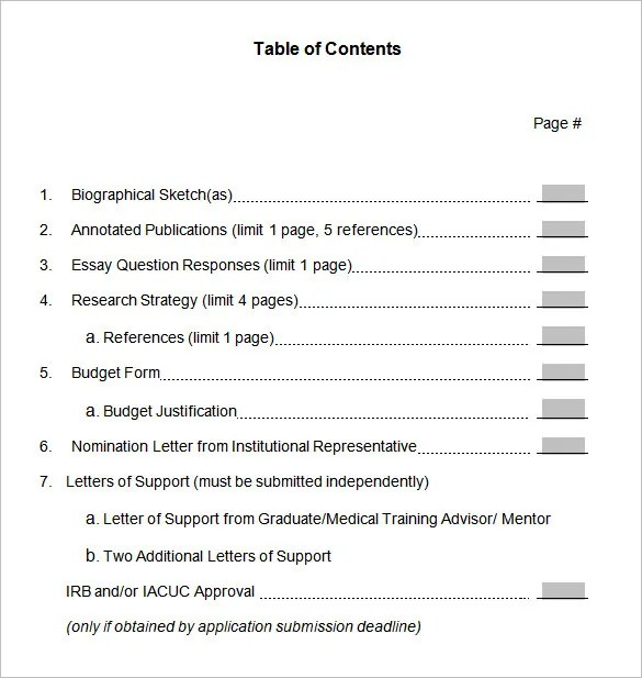 22 Table Of Contents – PDF DOC Free & Premium Templates