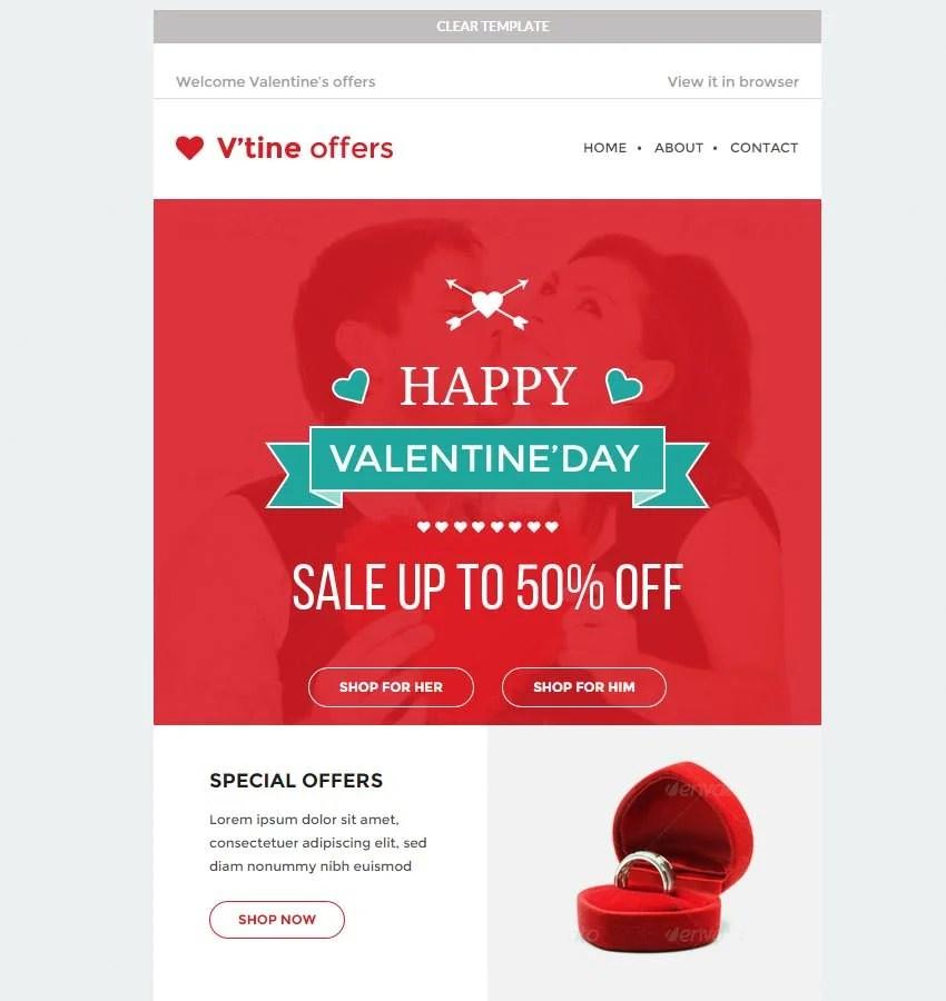 14 Best Valentines Emails Newsletter Templates  Free  Premium Templates