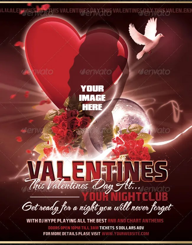 53 Fabulous PSD Valentine Flyer Templates Amp Designs