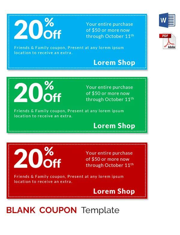 blank coupon template printable