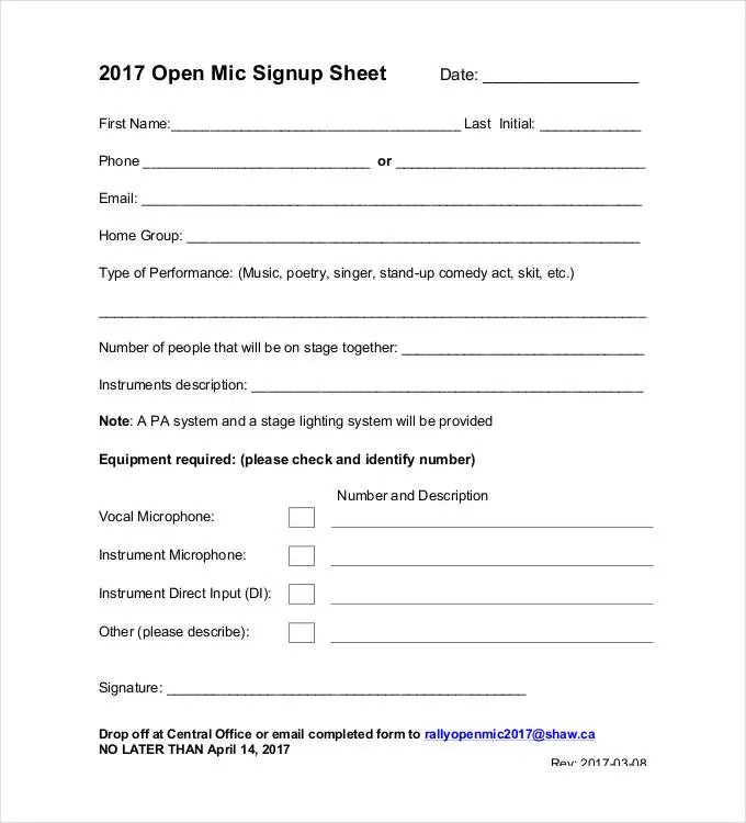 Sign Up Sheets - 58+ Free Word, Excel, PDF Documents Download   Free ...