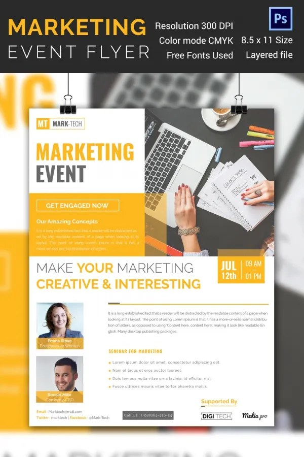 34 Stunning PSD Event Flyer Templates  Designs  Free  Premium Templates