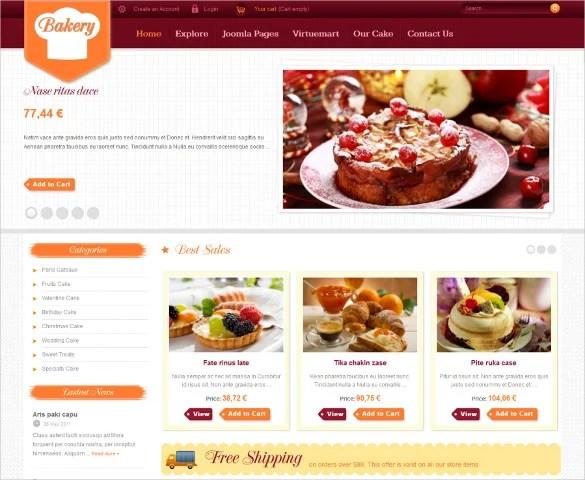Bakery Website Template Free Cablocommongroundsapexco