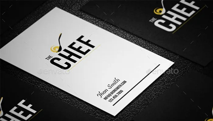 16 Business Cards For Chefs Free & Premium Templates