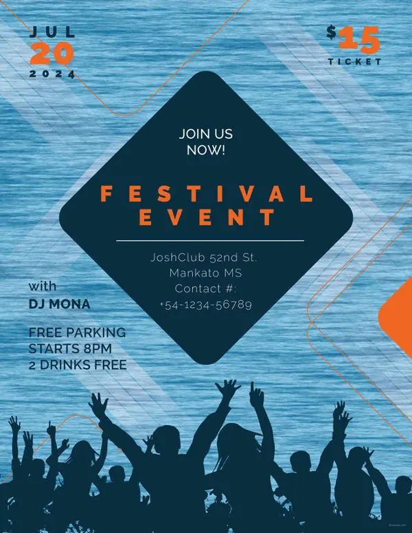 example of flyers for events