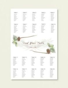 Fall wedding seating chart word template also templates pdf doc free  premium rh