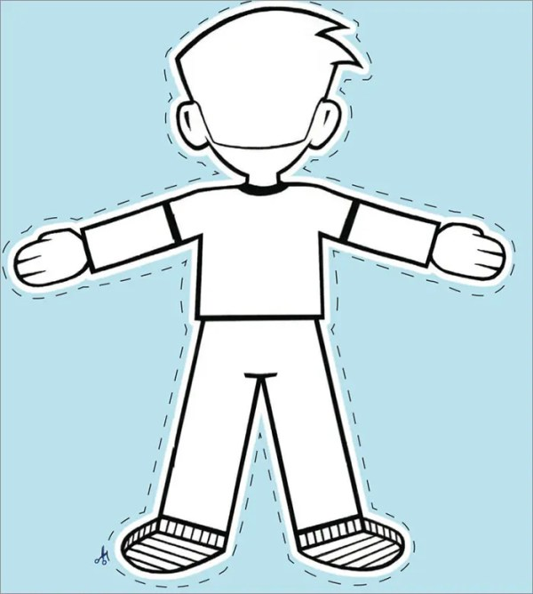 flat stanley coloring page # 3