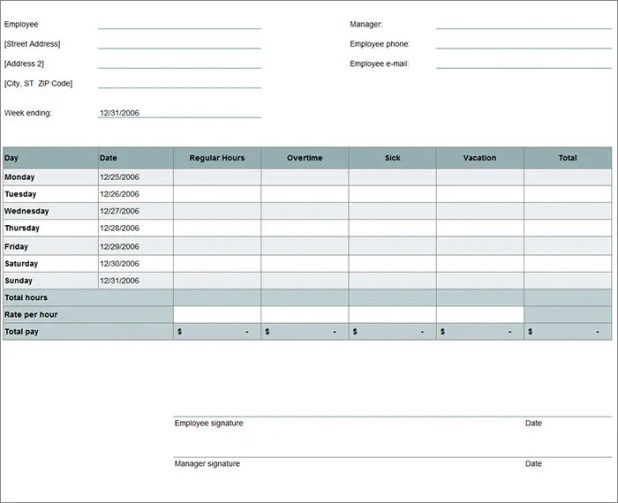Excel Time Card Calculator Howtoviews