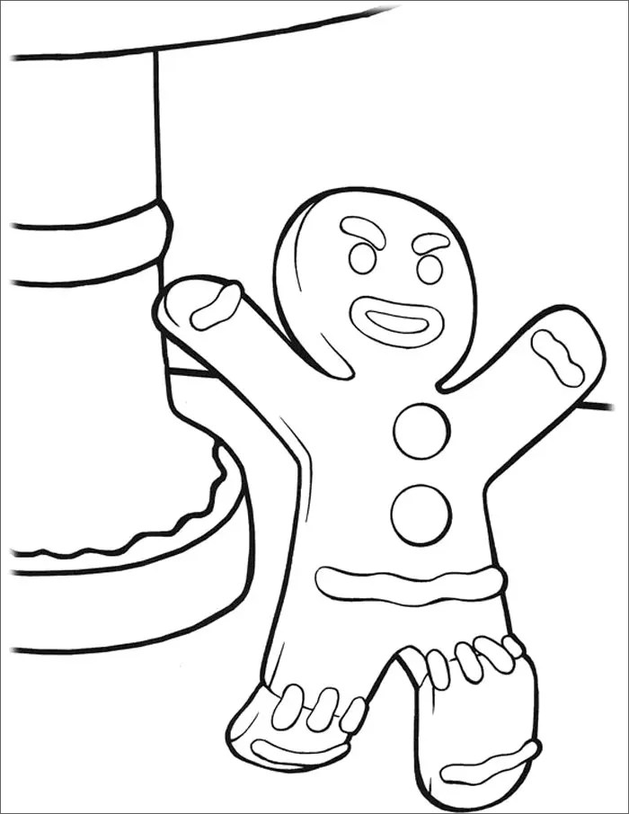 gingerbread man templates & colouring pages  free