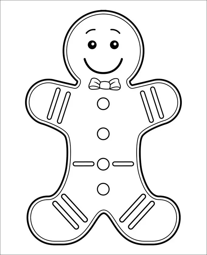 photograph about Gingerbread Man Template Printable Large named Gingerbread Gentleman Template Printable Higher - Cost-free Obtain