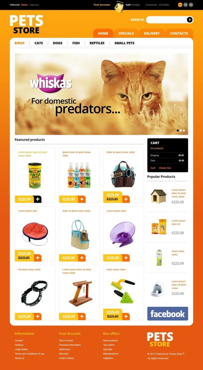 9 Animal  Pet Store Prestashop Templates  Themes  Free  Premium Templates