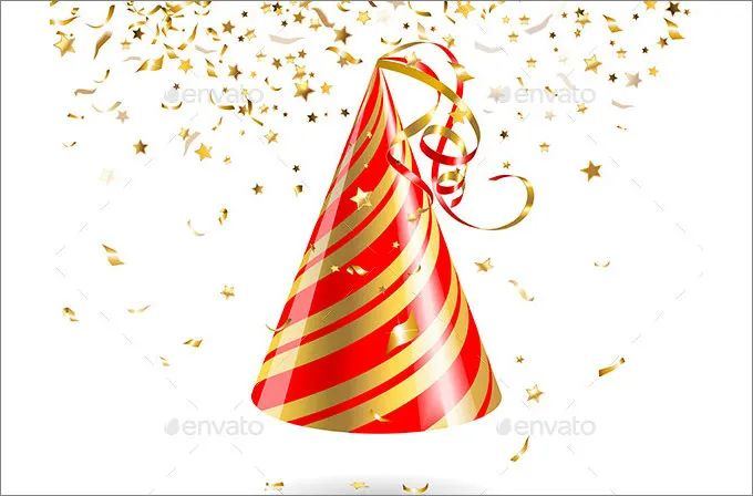 party hat template printable