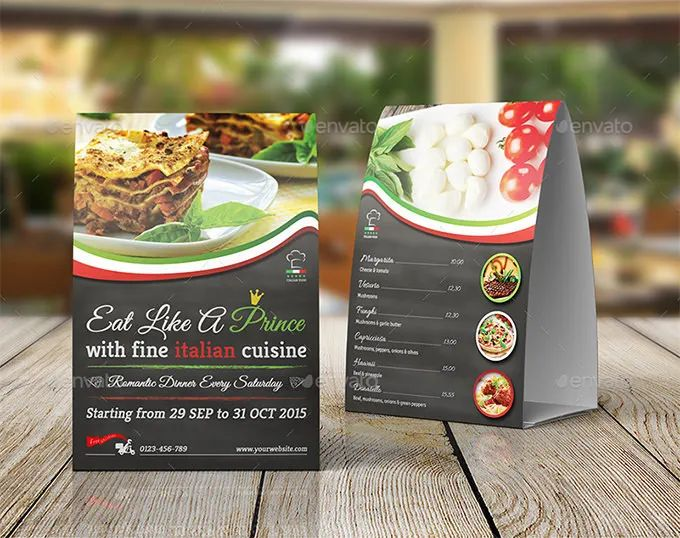 table tent template publisher